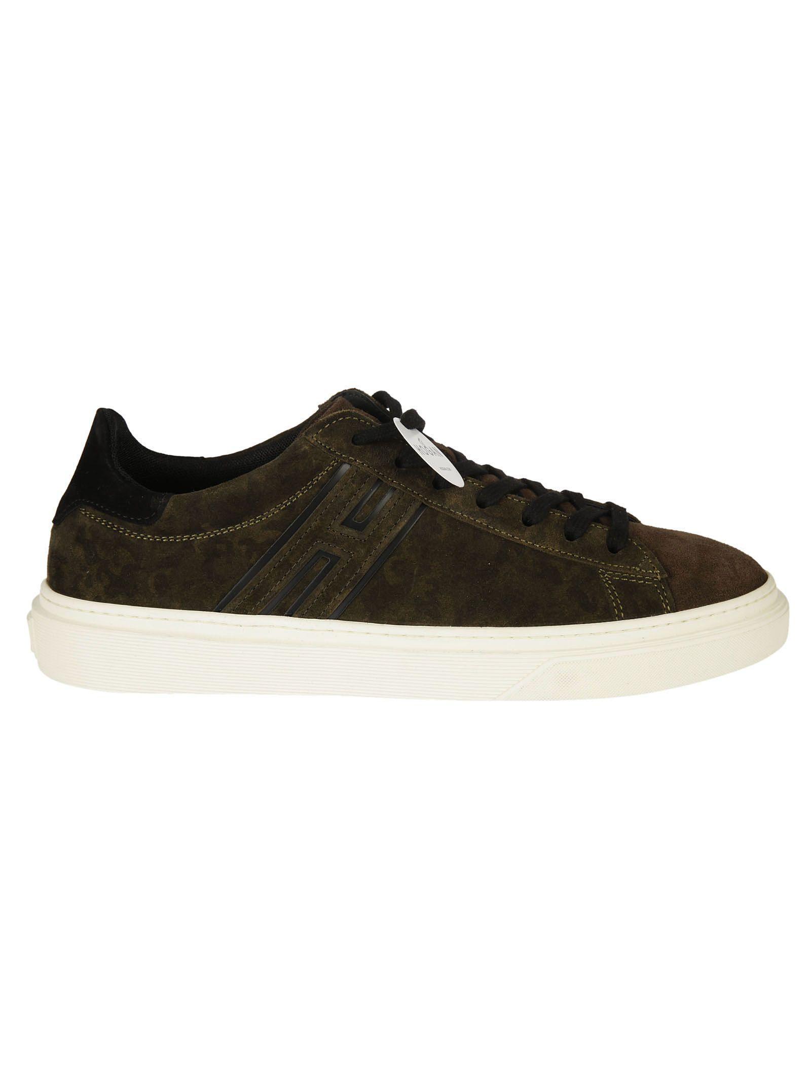 Shop Hogan H340 Sneakers In Verde-nero-moro