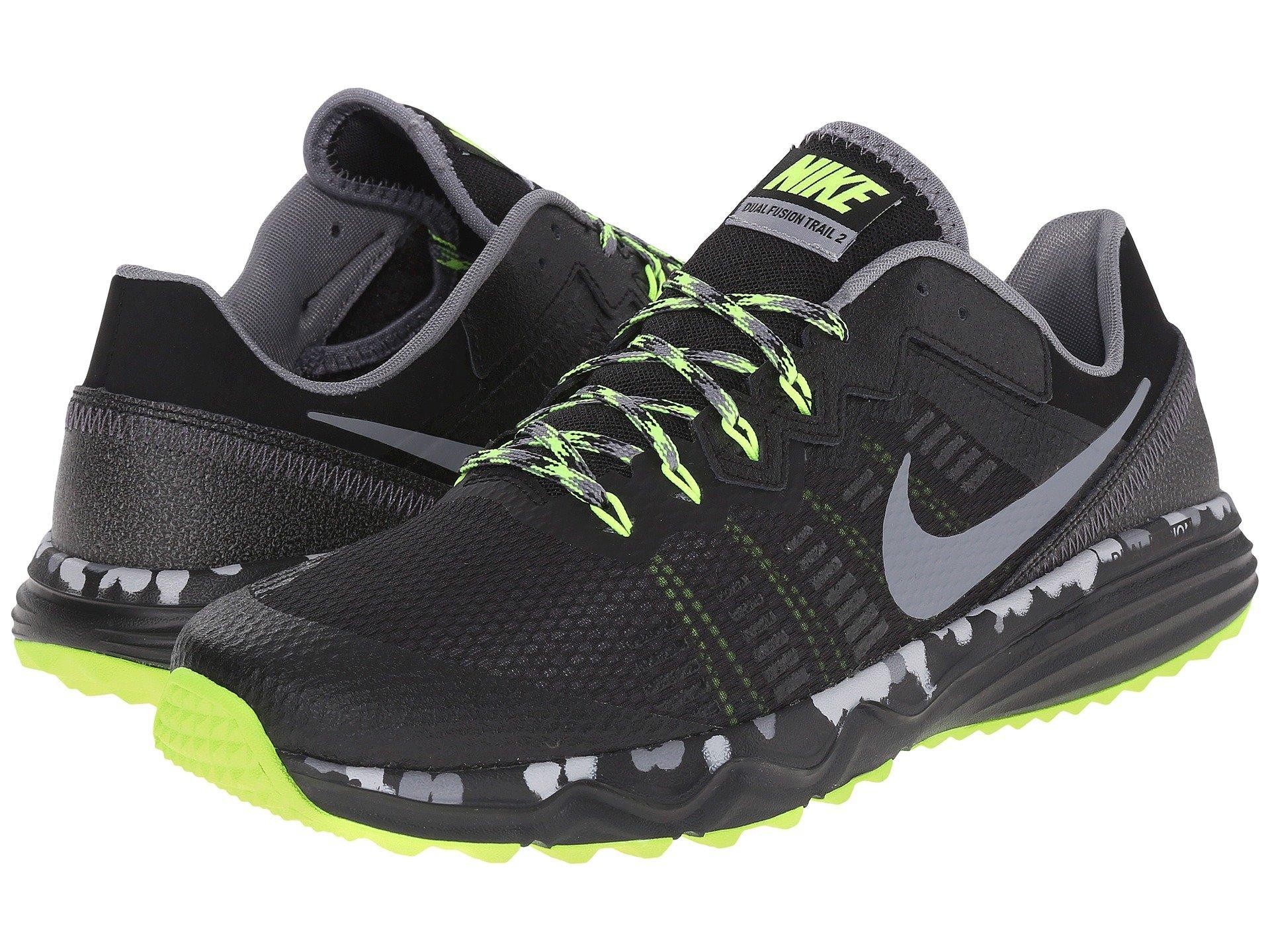 Vendedor golpear profundidad  Shop Nike Dual Fusion Trail 2 In Black/volt/wolf Grey/cool Grey