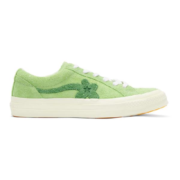 Shop Converse Green Golf Le Fleur Edition One Star Sneakers
