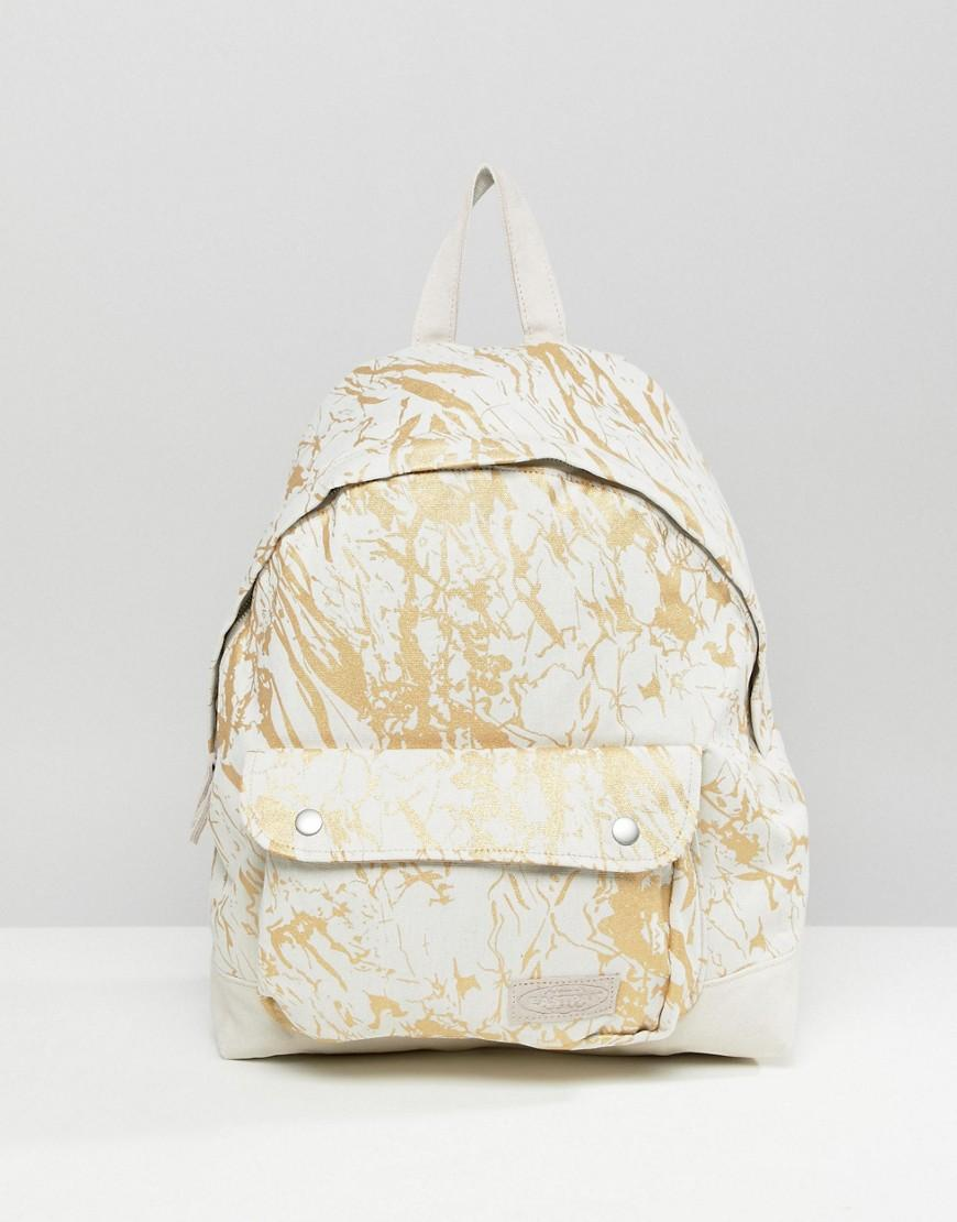 Eastpak Padded Pak'r Superb White Marble Backpack