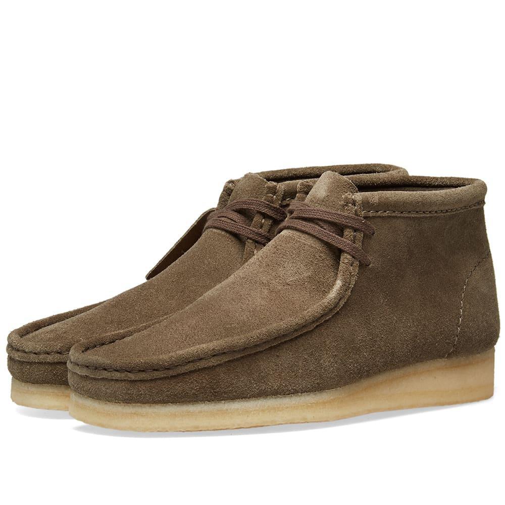 Shop Clarks Originals Wallabee Boot In Green