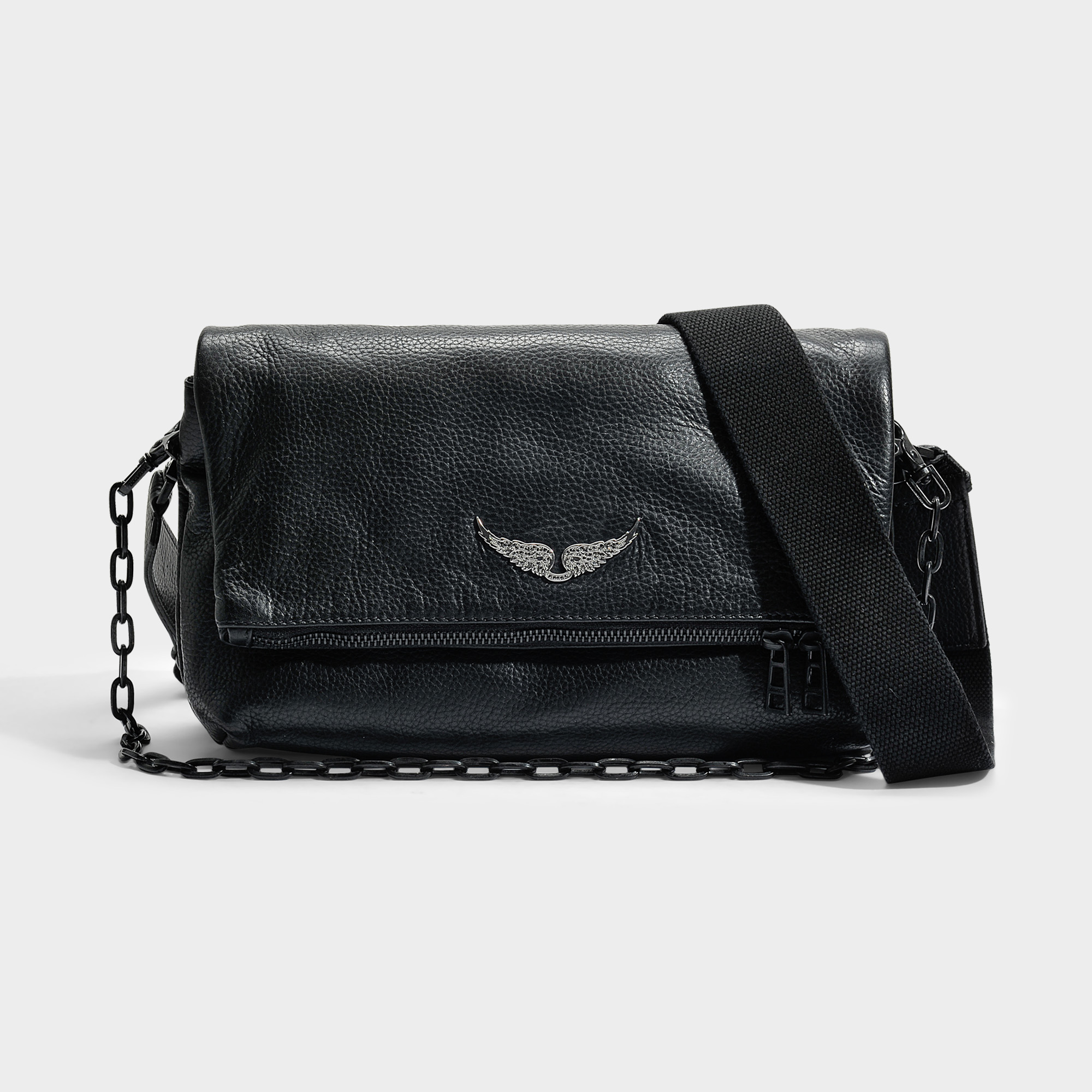 Shop Zadig Voltaire Rocky Bag In Black Cow Leather