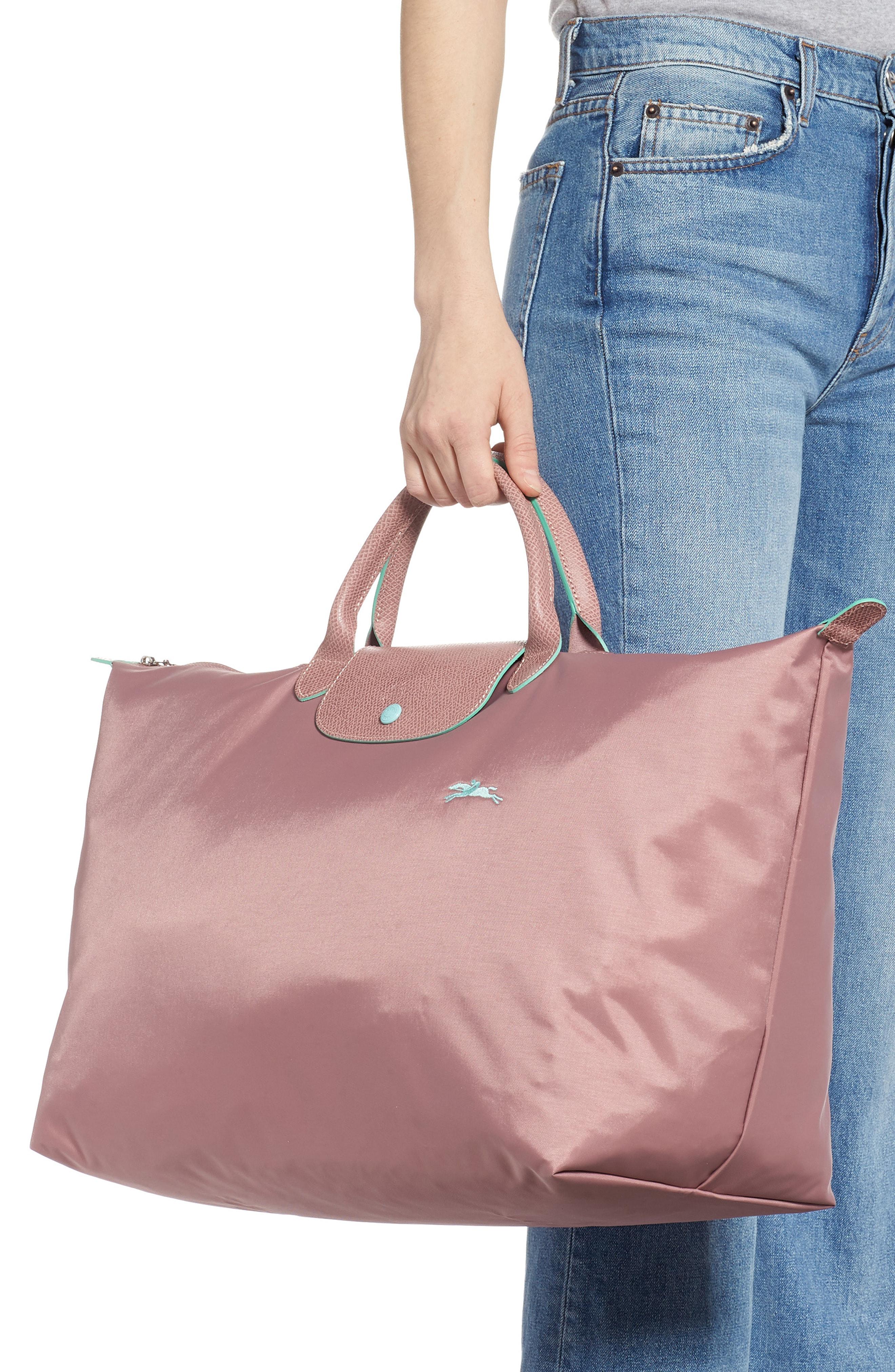 Shop Longchamp Le Pliage Club Tote In Antique Pink