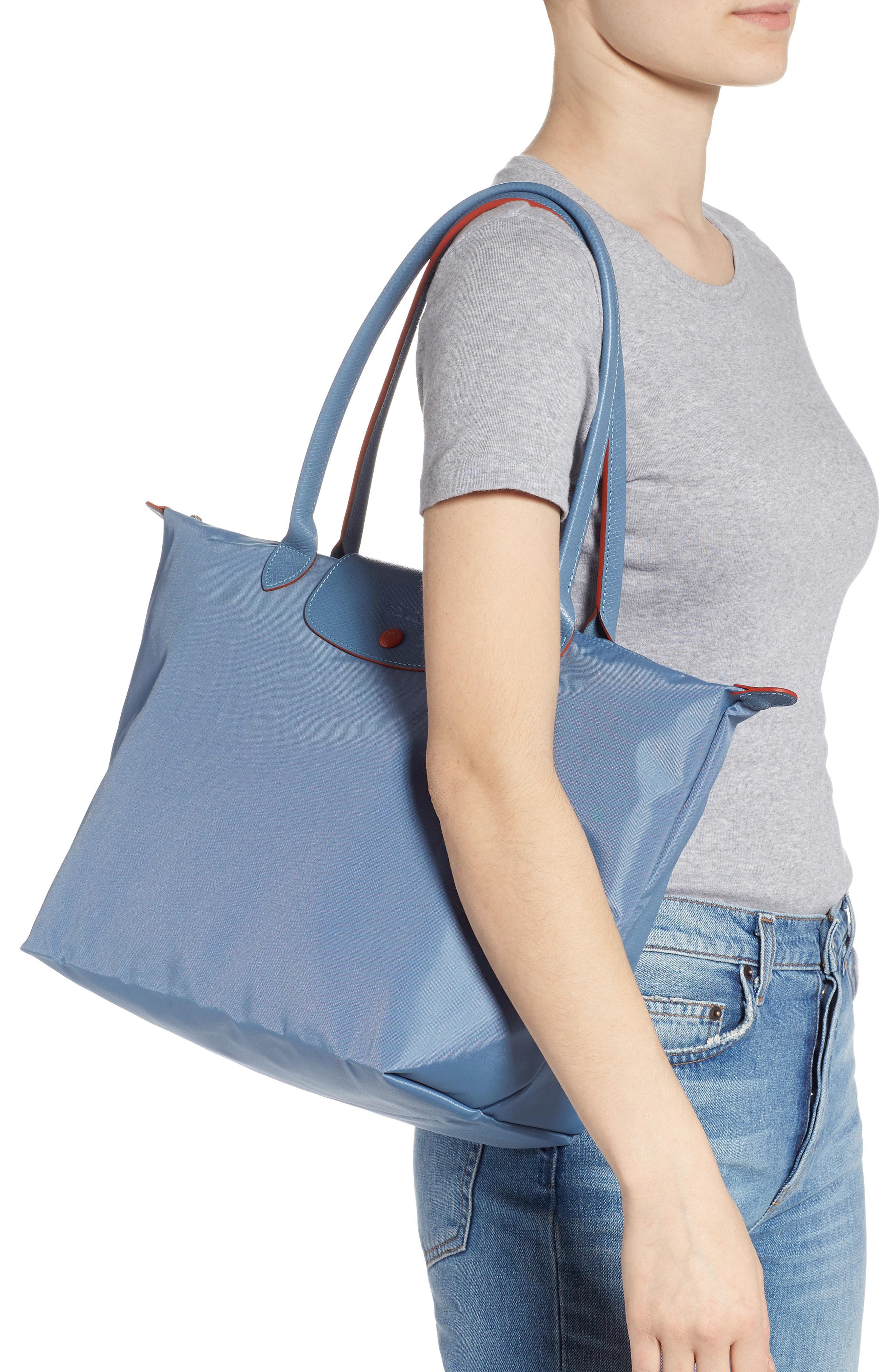 Shop Longchamp Le Pliage Club Tote - Blue In Blue Mist