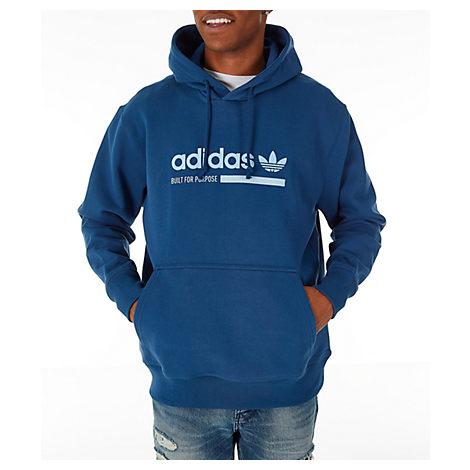 condensador Río arriba Atajos  Shop Adidas Originals Men's Originals Kaval Graphic Hoodie, Blue - Size Med
