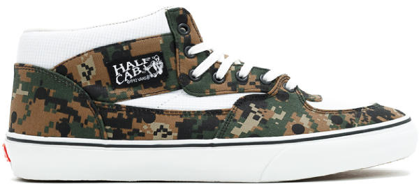 Shop Vans Half Cab Supreme X Cdg Digi Camo Olive In Digital