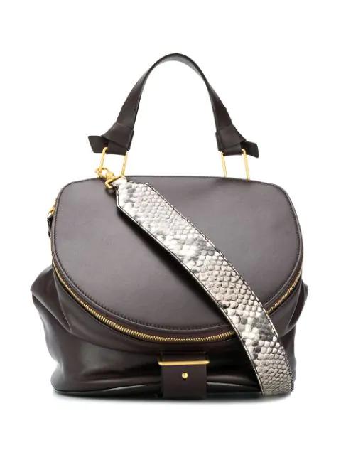 llenar terminado Perforación  Shop Bally Medium Harryet Shoulder Bag In Brown
