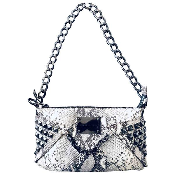 Shop Pierre Balmain Ecru Exotic Leathers Handbag
