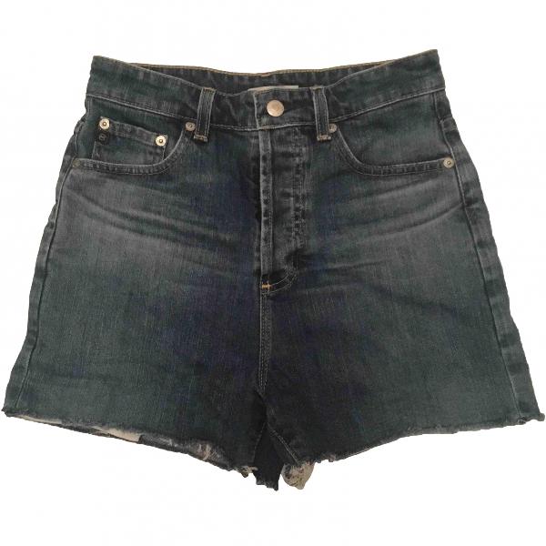 Shop Ag Blue Denim Jeans Shorts