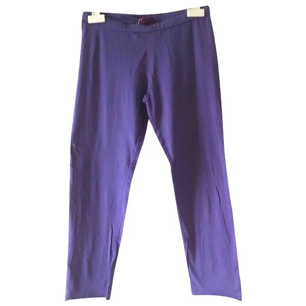 Shop Velvet Purple Cotton Trousers