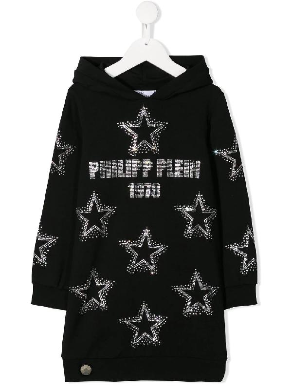 Shop Philipp Plein Junior Embellished Sweatshirt In Black