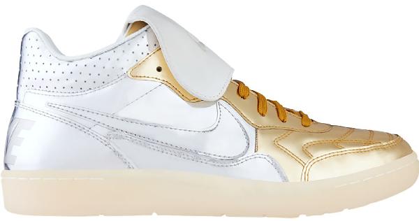 combattimento vendere piatto  Shop Nike Tiempo 94 Mid Liquid Metal Silver Gold In Metallic Silver/Metallic  Silver-Metallic Gold